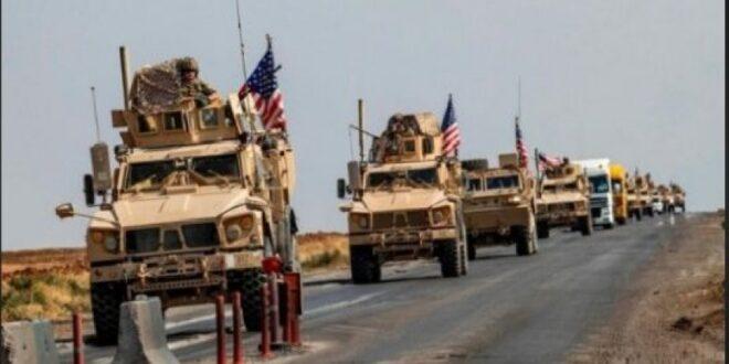 وصول قافلة أسلحة إلى القاعدة الامريكية بريف دير الزور