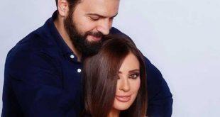 قبلة رومانسية تجمع تيم حسن ووفاء الكيلاني