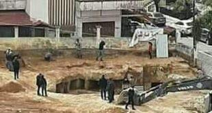 العثور على مدفن روماني أثناء حفريات بحي مارتقلا في مدينة اللاذقية