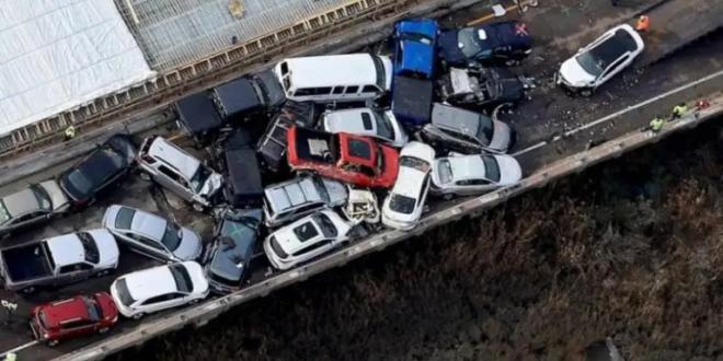 فيديو مرعب لحادث تصادم 100 سيارة في ولاية تكساس الأمريكية