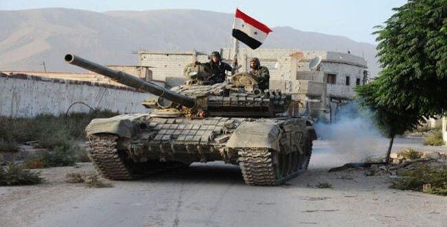 عملية عسكرية للجيش السوري قرب أثريا