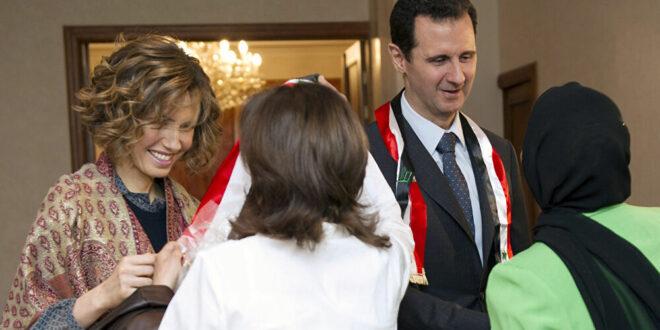 الرئاسة السورية تعلن شفاء الرئيس الأسد وعقيلته وعودتهما الى مزاولة عملهما