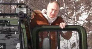 """بالصور.. بوتين يقضي عطلته """"وسط الثلوج"""""""