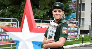 الكشف عن أجمل فتاة في الجيش الروسي