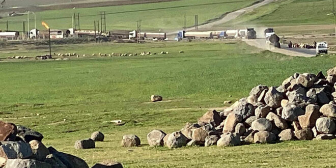 فيديو يرصد لحظة سرقة صهاريج الجيش الأمريكي للنفط السوري