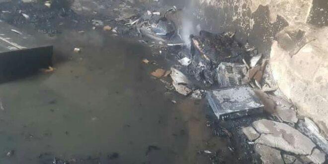 انفجار تلفاز يتسبب بحريق منزل في حمص