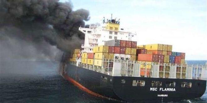 استهداف سفينة إيرانية قبالة الشواطئ السورية