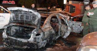 حريق في سيارة بشارع بغداد والأضرار مادية