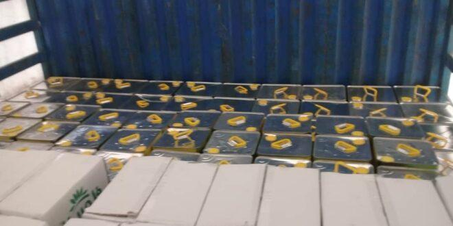 ضبط مخازن للإتجار بمادة الزيت