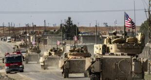 القوات الأمريكية تخرج شاحنات محملة بالحبوب المسروقة من سوريا إلى شمال العراق