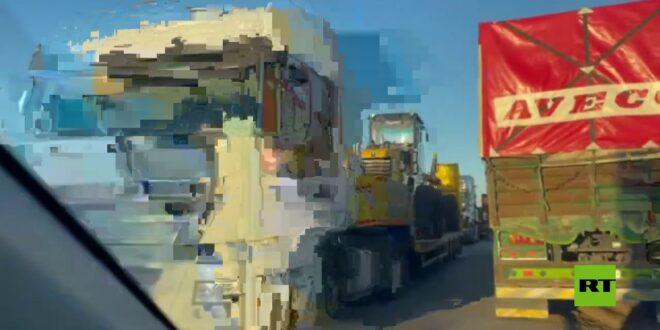 45 شاحنة تتوجه نحو مواقع أمريكية في سوريا