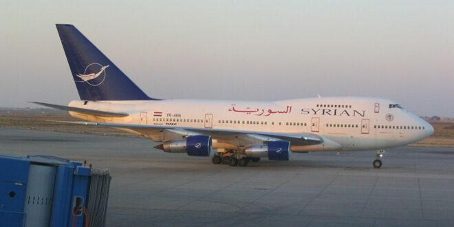 انطلاق أول رحلة طيران من دمشق إلى موسكو بعد توقف لأكثر من عام