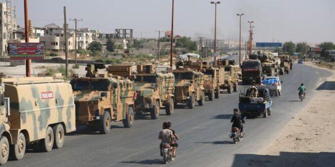 الجيش التركي يرسل أسلحة جديدة إلى إدلب