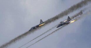 غارات روسية تستهدف رتل تركي والميليشيات المرافقة له