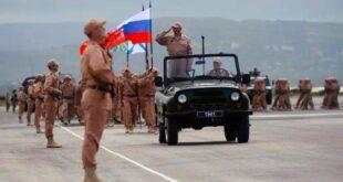 قاعدة حميميم الروسية تحتفل بالجلاء الفرنسي عن سوريا
