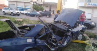 حادث سير يودي بحياة لاجئ سوري وابنه في لبنان