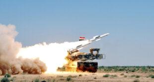صاروخ سوري يلاحق طائرة اسرائيلية ويسقط في بلدة حولا جنوب لبنان