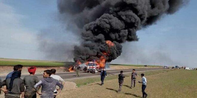 وفاة باحتراق صهريج بنزين في ريف الحسكة