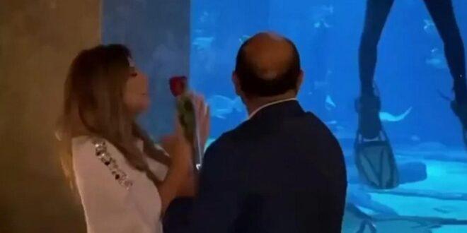 فنانة لبنانية يفاجئها حبيبها ويطلب يدها في دبي