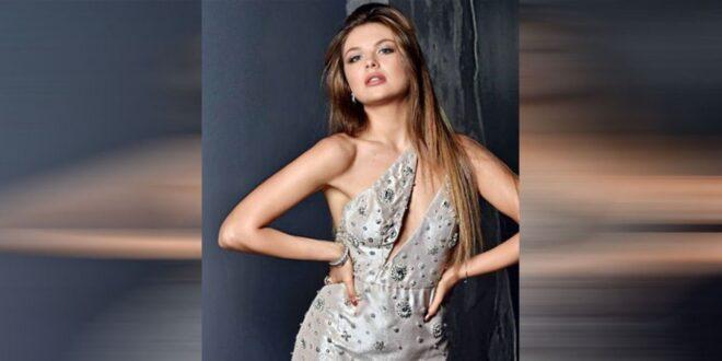 ملكة جمال لبنان على شاطئ دبي