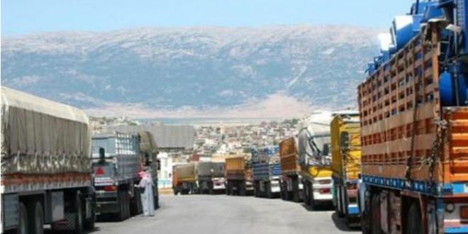 حجم التبادل التجاري بين سوريا والأردن