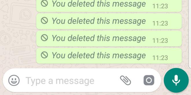 """""""واتسآب"""" يستعد لإجراء تغيير مهم في حذف الرسائل"""