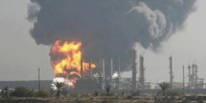 اندلاع حريق في مصفاة حمص