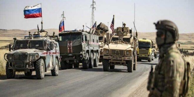القوات الروسية توقِف قافلة أمريكية بريف الحسكة وتجبرها على العودة