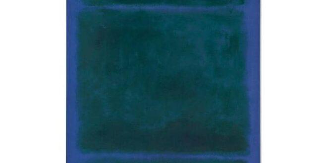 """لوحة مستطيل أزرق """"بدون عنوان"""" بمبلغ 38 مليون دولار"""