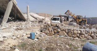 شاهدوا الأضرار التي خلفها العدوان الاسرائيلي على أملاك المدنيين وسط سوريا