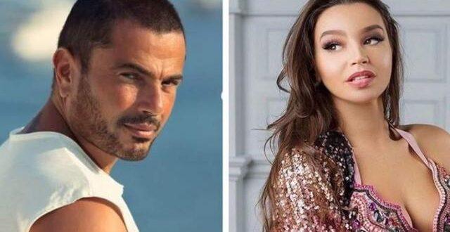 عمرو دياب يثير الجدل بصوره مع الراقصة جوهرة