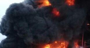 إخماد حريق ضخم في معمل للفلين بمدينة حسياء الصناعية