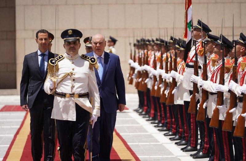 الرئيس الأسد يستقبل رئيس جمهورية أبخازيا أصلان بجانيا