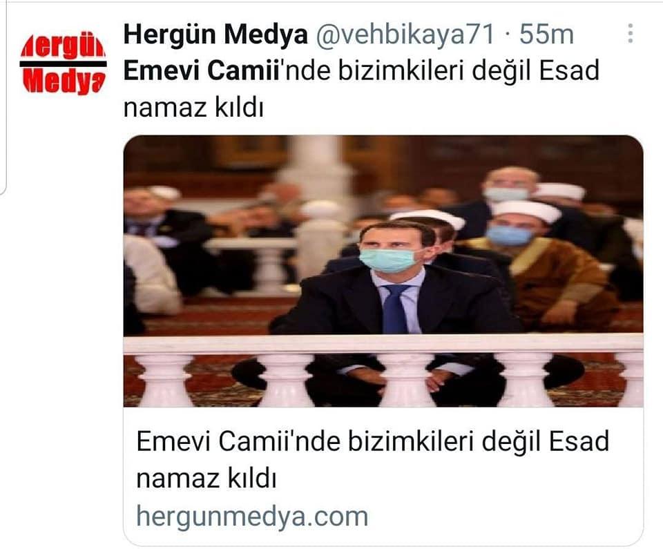 المعارضة التركية تسخر من أردوغان بنشر صور الرئيس الأسد خلال صلاته في المسجد الأموي