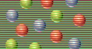 هل تستطيع تحديد ألوان الكرات في الصورة