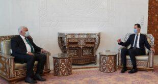 رئيس الحشد الشعبي العراقي يحمل رسالة الى الرئيس الأسد