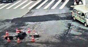 الصين.. انفجار كبير لأنبوب غاز تحت الأرض يطيح بالمارة والسيارات (فيديو)