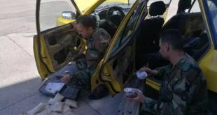 """ضبط شحنة مخدرات مخبأة ضمن """"أبواب تكسي"""" وسط سوريا"""