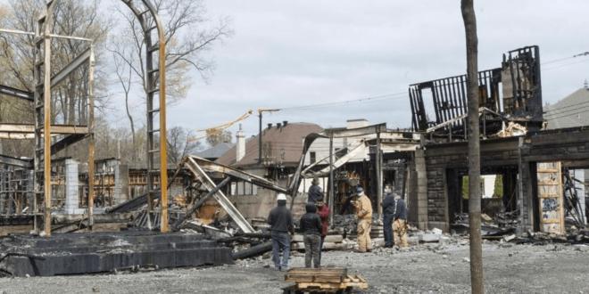 حريق يلتهم قصرا لرجل أعمال سوري الأصل في كندا