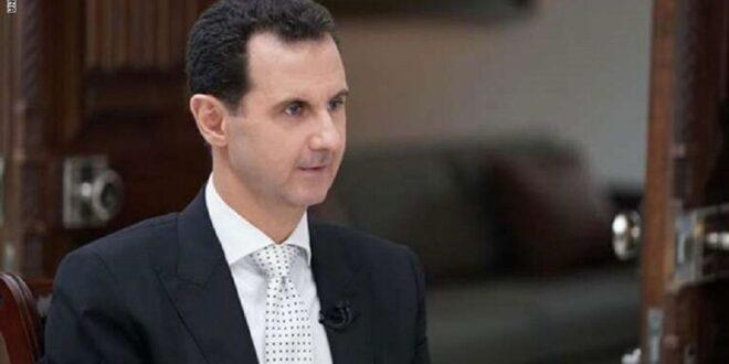 برقية جوابية من الرئيس السوري لرئيس المجلس السياسي الأعلى في صنعاء