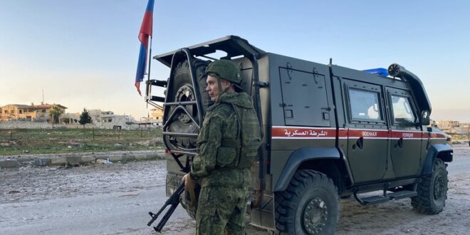 مقتل جندي روسي وإصابة 3 آخرين جراء تفجير في سوريا