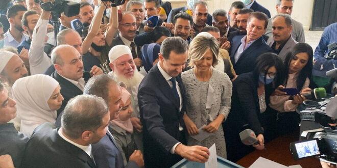 رئيس حكومة أرمينيا يهنئ الأسد بالفوز الانتخابي