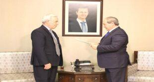 أوراق اعتماد السفير الفلسطيني الجديد في دمشق