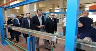 الرئيس الأسد في زيارة لمنطقة عدرا الصناعية