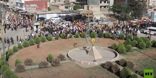 احتجاجات في القامشلي على الهجمات التركية