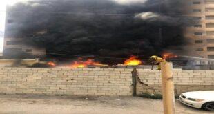 حريق كبير في منطقة الروشة بالعاصمة اللبنانية بيروت (فيديو)