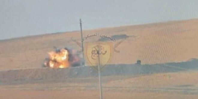 تدمير دبابة تركية في شمال سوريا