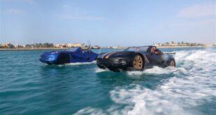 """""""محلية الصنع""""...سيارة مصرية تسير فوق الماء..فيديو"""