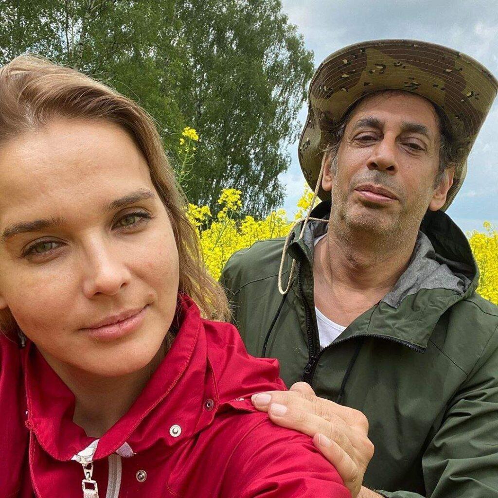 ماريو باسيل مع زوجته الروسية الشقراء