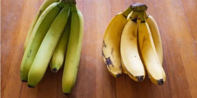 بين الموز الأصفر والموز الأخضر
